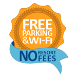 Rosen Free Parking & Wi-Fi No Resort Fees Logo