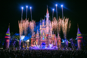 Cinderella's Castle at Disney's Magic Kingdom After Hours